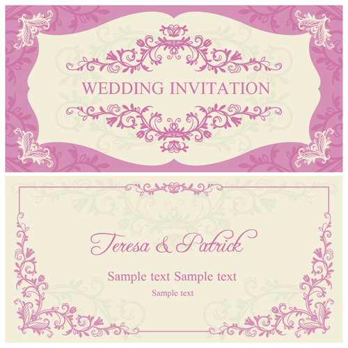 Ornate pink floral wedding invitations vector 04 free download ornate pink floral wedding invitations vector 04 stopboris Images
