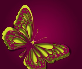 Paper cut butterfly vector background set 01