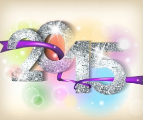 Purple velvet and 2015 new year vector background