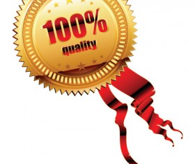 Quality medal shiny vector 02
