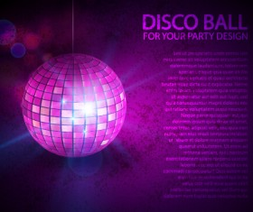 Rainbow disco ball background vector material