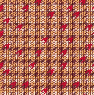 Realistic knitting textured pattern vector 01