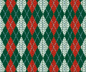 Realistic knitting textured pattern vector 03