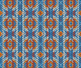 Realistic knitting textured pattern vector 04