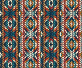 Realistic knitting textured pattern vector 05