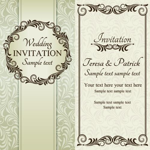 Romantic ornate wedding invitations 04