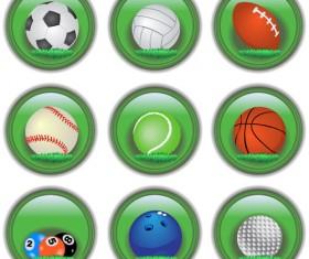 Shiny ball icons set vector 02