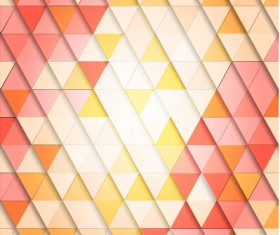 Shiny colored triangle pattern vector 01