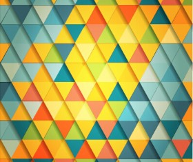 Shiny colored triangle pattern vector 02