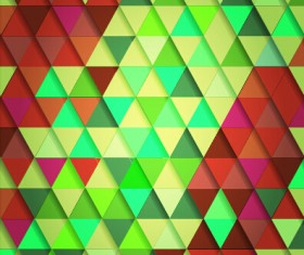Shiny colored triangle pattern vector 04