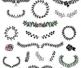 Simple laurels frames ornament vector