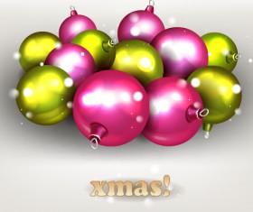 Sparkling baubles christmas vector design 01