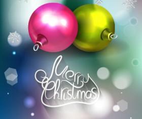 Sparkling baubles christmas vector design 02