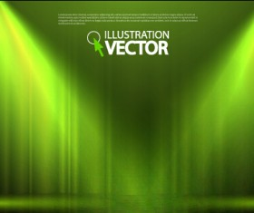 Stage curtain with light backgound illustration 01