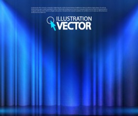 Stage curtain with light backgound illustration 03