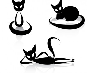 The offbeat cats vector design 01