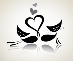 The offbeat cats vector design 05