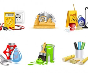 Various tools icons vector set
