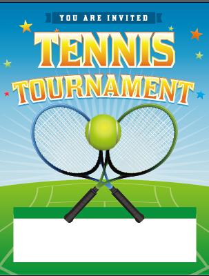 Vector poster sports tournament design set 01