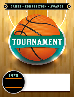 Vector poster sports tournament design set 04