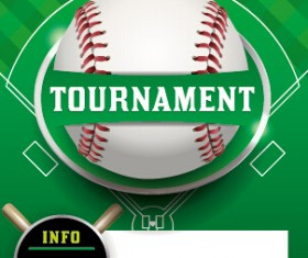Vector poster sports tournament design set 07