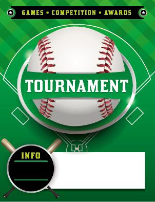 Vector poster sports tournament design set 07