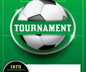 Vector poster sports tournament design set 08