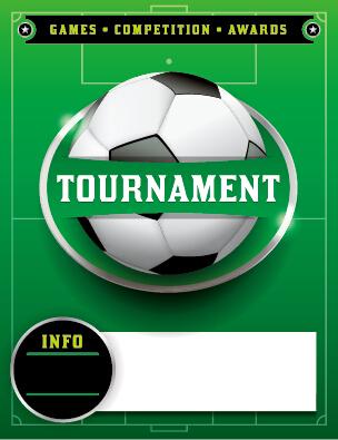 Vector poster sports tournament design set 08