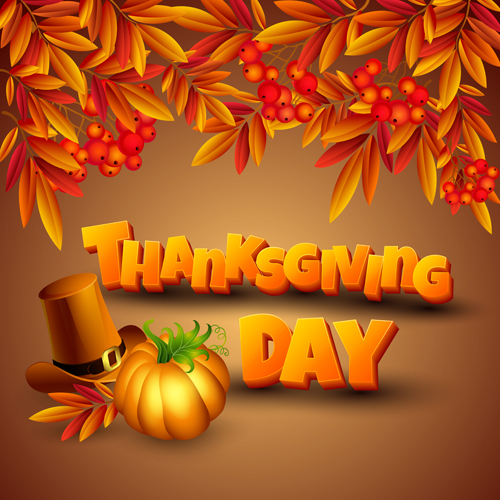 Vector Thanksgiving Day Art Background 04
