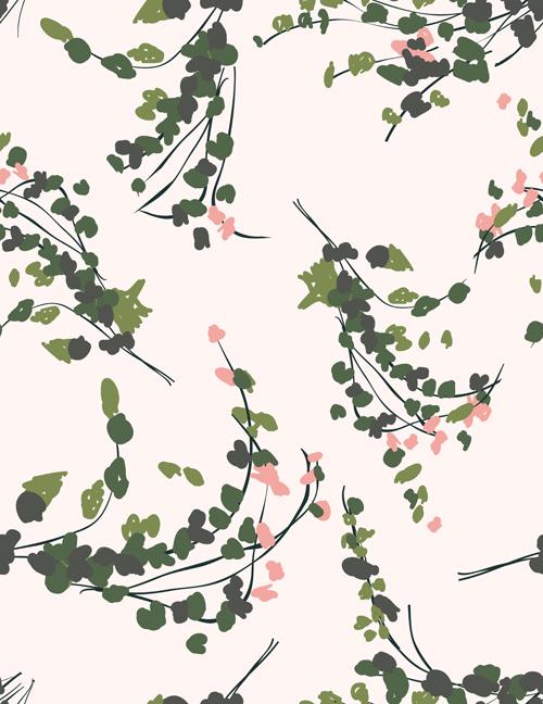Vintage plant seamless pattern vectors 03