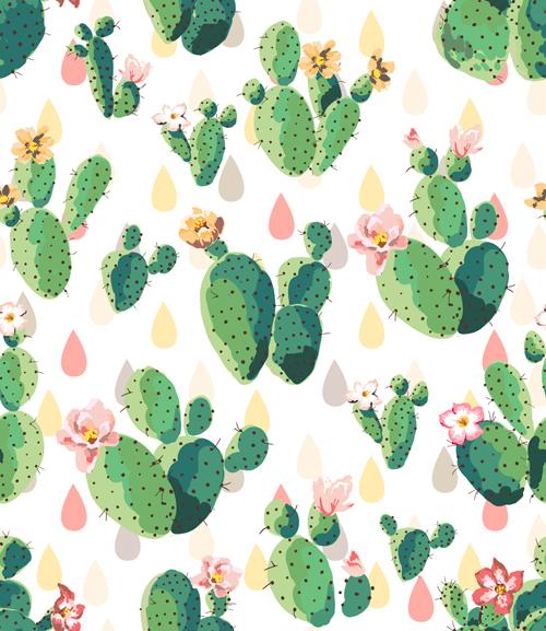 Vintage plant seamless pattern vectors 04