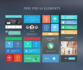 Web free ui elements psd