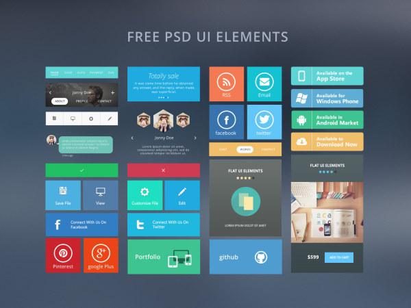 Web free ui elements psd