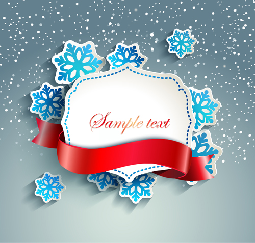 Winter christmas and new year frame backgrounds 01