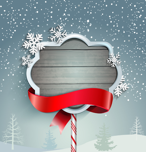 Winter christmas and new year frame backgrounds 02