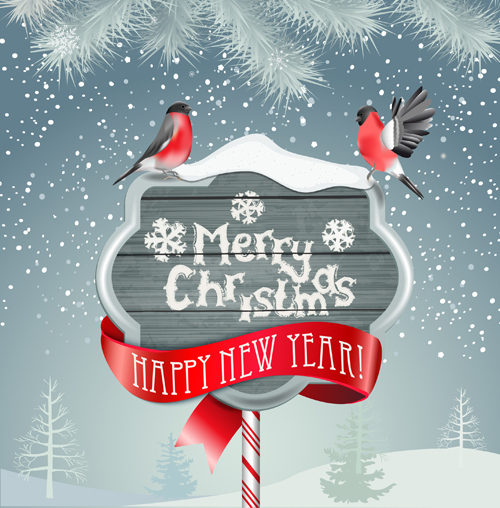 Winter christmas and new year frame backgrounds 03