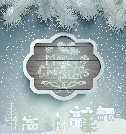 Winter christmas and new year frame backgrounds 05