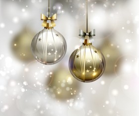Xmas baubles shiny holiday background art 01