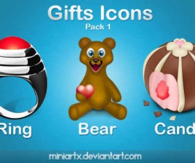 Gifts icons pack