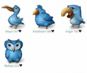 Ugly Birds icons for Twitter