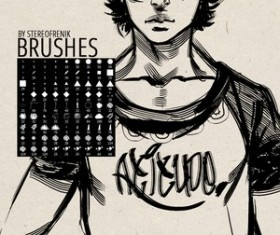 My Current Brush Set by Stereofrenik