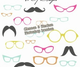 Photoshop Brushes Glasses and Staches