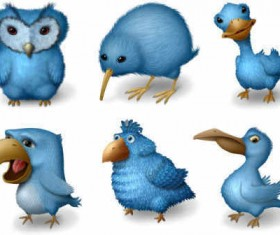 Ugly Birds icons for Twitters