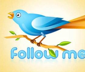 Twitter bird PSD icons