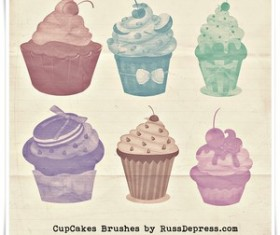 CupCakes High Res shabby chick Photoshop brushes