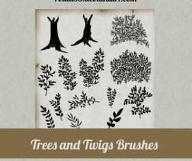 Trees and Twigs Brushes