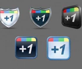 5 Free Google +1 icons