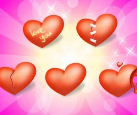 Heart Valentine Day icons