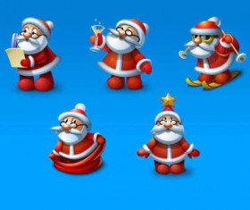 Santa icons set