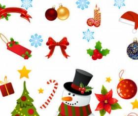 Beautiful Cartoon Christmas icons